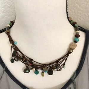 Silpada stone necklace, worn once or twice!